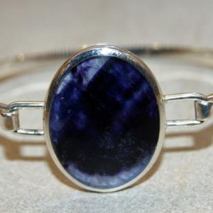 Blue John Sterling Silver Bangle - RPBA100