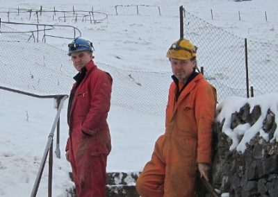 Craftsman Peter Sharp (left) and Mining Manager, Gary Ridley in 2013