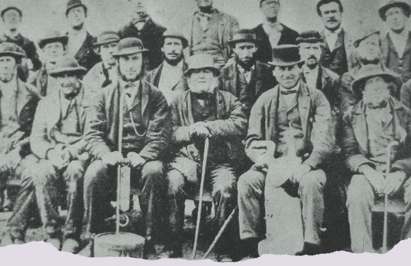 Lead Miners at Treak Cliff Cavern in 1867