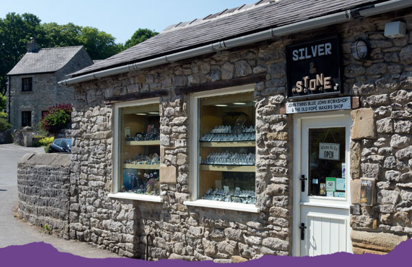 The silver and stone Shop in Castleton