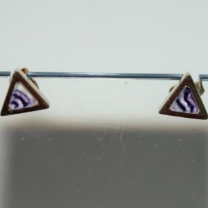 9ct gold Blue John stud earrings S654