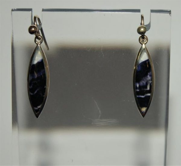 9ct gold Blue John pendant and drop earrings matching set - PE656
