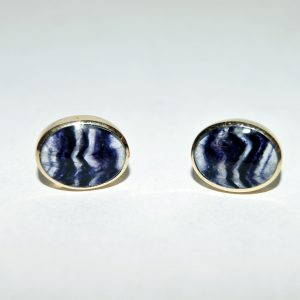 9ct gold Blue John stud earrings RPS633