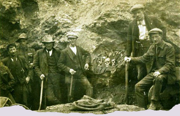 Miners at Treak Cliff Cavern in the 1920s