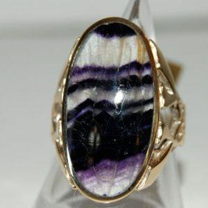 9ct Gold Blue John Rings