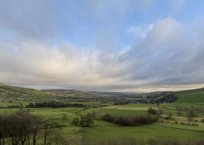 Stunning views of the Hope Valley from Treak Cliff