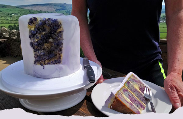 Blue John Cake at the Café on the Cliff